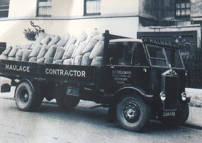 EF Hillman 1930s lorry before company was nationalised