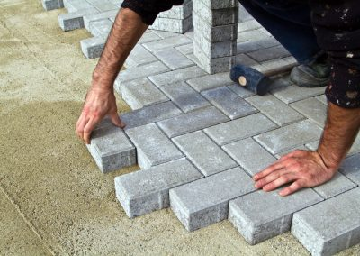 Block pave driveway