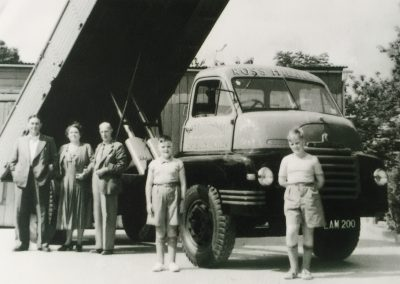 Hillman Family with first lorry