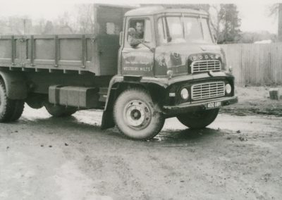 Lorry with driver 1960s