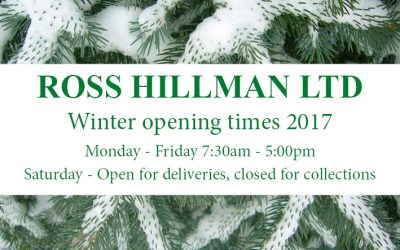 Winter Opening Times 2017