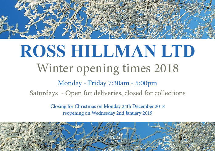 Winter Opening Times 2019